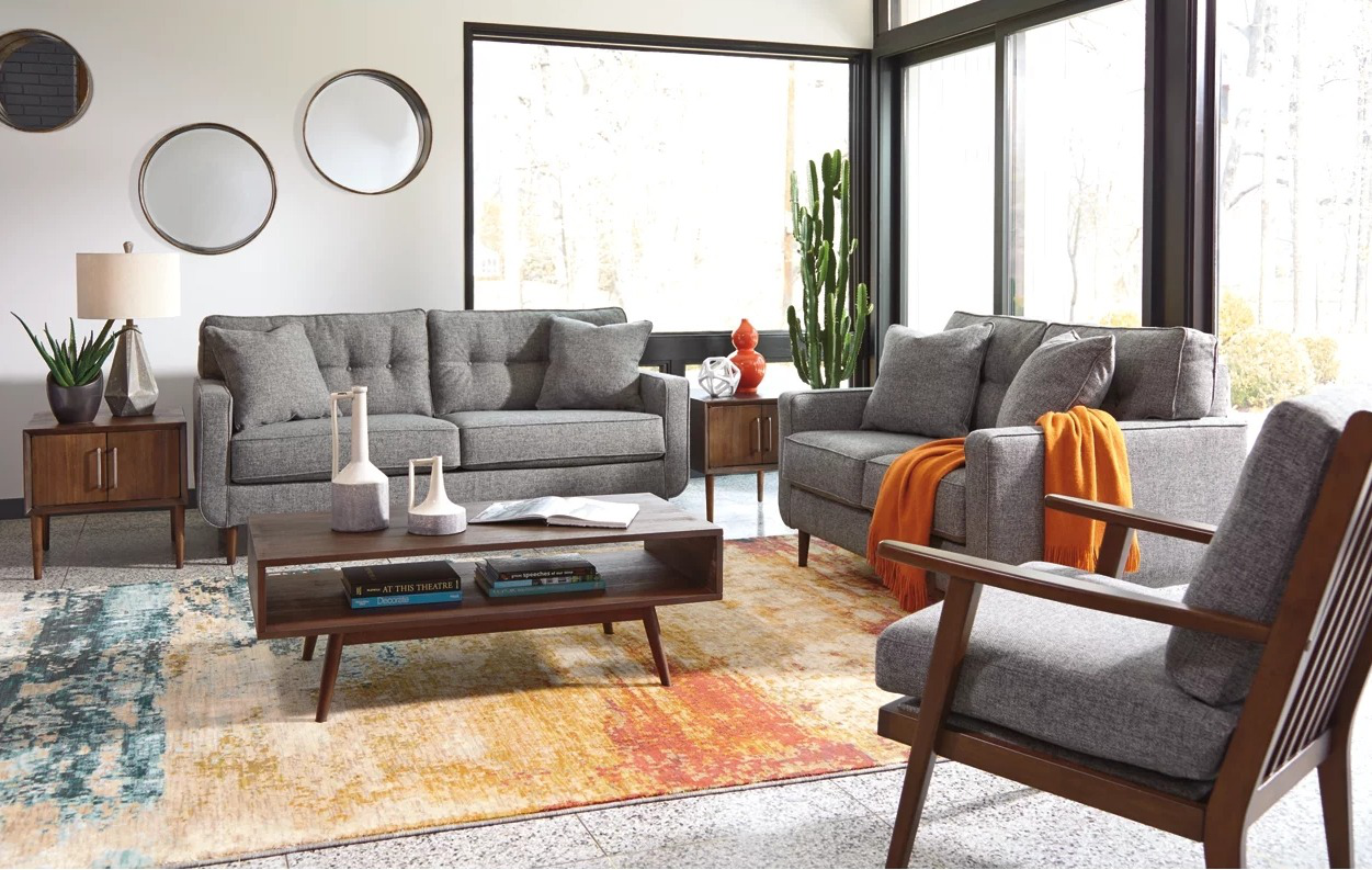 Ashley Furniture Mid Century Living Room Package
